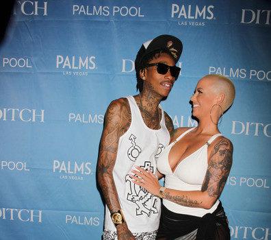 Cigarettes, Tattoos & Waterguns Wiz Khalifa & Amber Rose Take Over Vegas Memorial Day Take Weekend