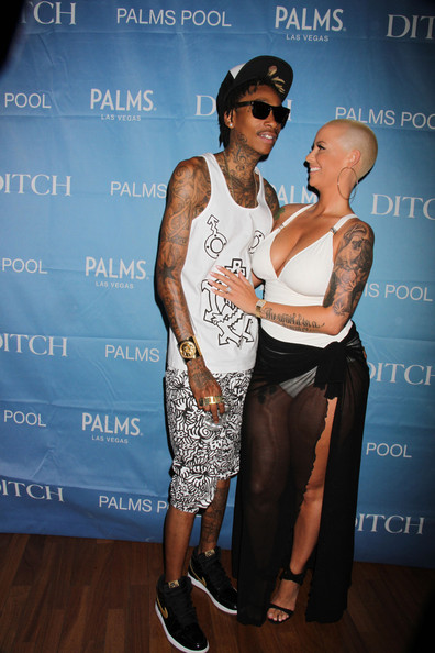 Cigarettes, Tattoos & Waterguns Wiz Khalifa & Amber Rose Take Over Vegas Memorial Day Take Weekend
