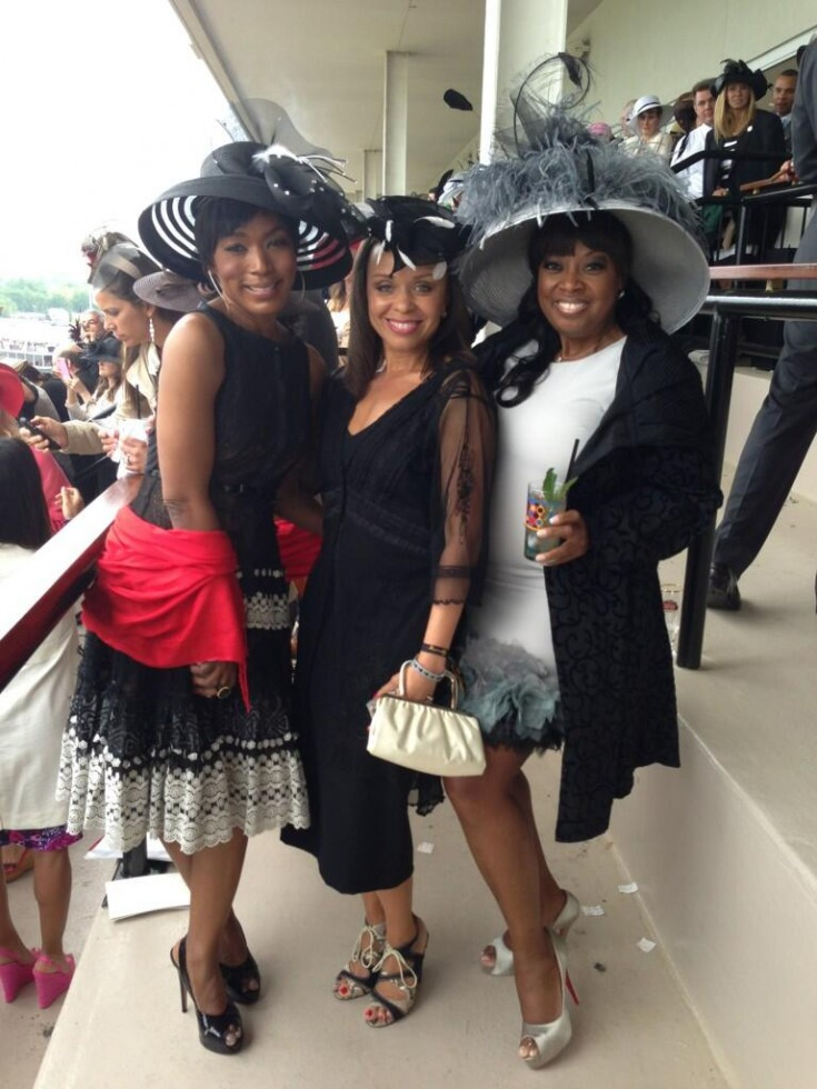 angela bassett-allison hix-star jones-kentucky derby-the jasmine brand