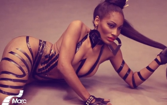 [Photos] Stop & Stare: LHHA's Erica Dixon Shows Skin, Booty & Tattoos for 'Black Men'