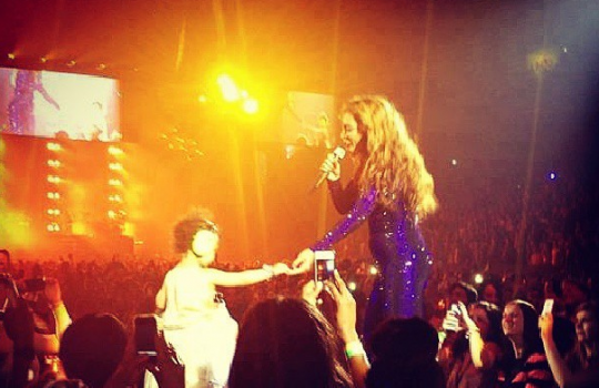 [UPDATED] Did Blue Ivy Make Her Debut On Stage During Beyonce's 'Mrs. Carter' Show?