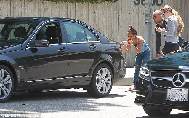 chris brown-car accident-karrueche tran-the jasmine brand