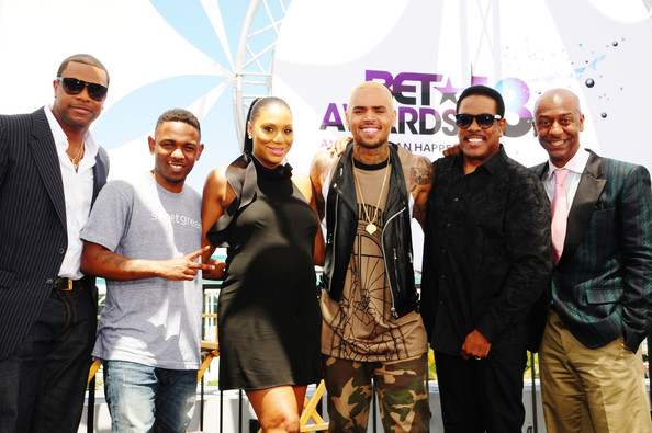 chris tucker-kendrick lamar-tamar braxton-chris brown-charlie wilson-stephen g hill-bet awards press conference 2013-the jasmine brand