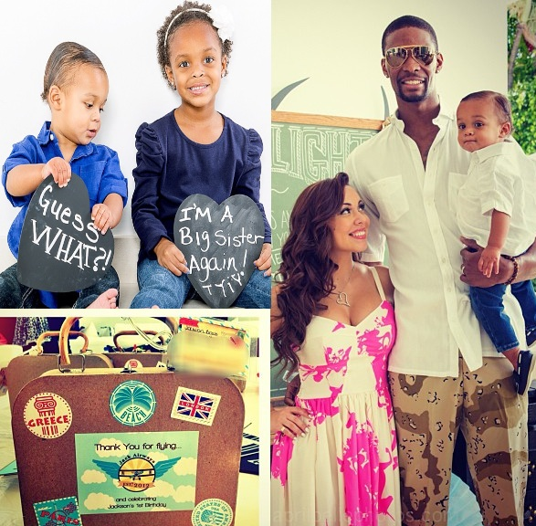 christopher bosh-adrienne bosh-expecting third baby-pregnant-the jasmine brand