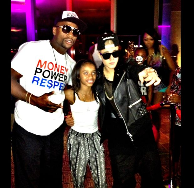 [Photos] Floyd Mayweather Jr. Gifts 13-Year-Old Daughter With $250k Watch & Celeb Filled Party With Justin Bieber & Kevin Hart
