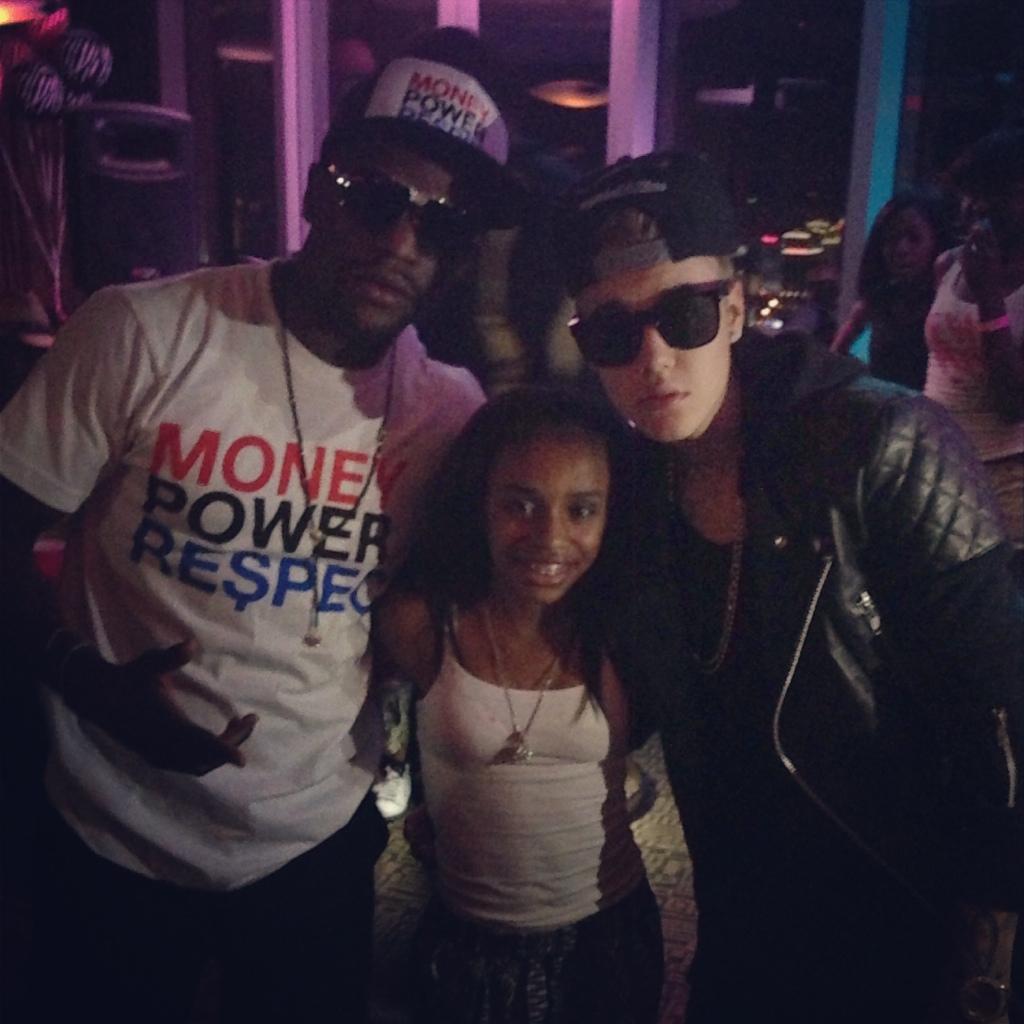 Justin Bieber Floyd Mayweather Daughter Iyanna 13th Birthday Party Vegas The Jasmine