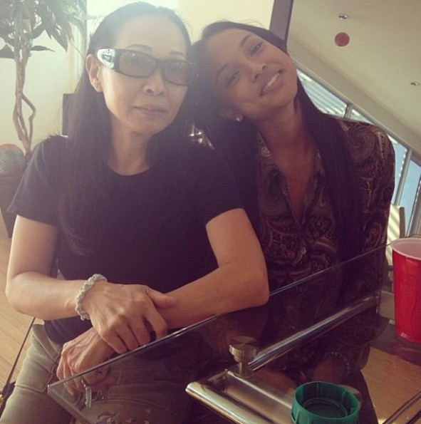 karrueche-karrueches mother-celebrities-mothers day 2013-the jasmine brand
