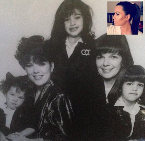 kim kardashian-celebrities mothers day 2013-the jasmine brand