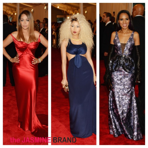 lala anthony-nicki minaj-kerry washington-met ball-punk chaos to couture-costume gala-b-the jasmine brand
