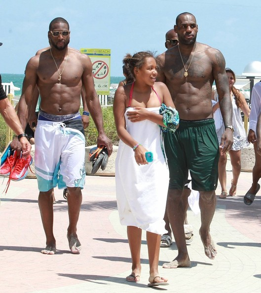 lebron james-Dwyane Wade-miami poolside-b-the jasmine brand