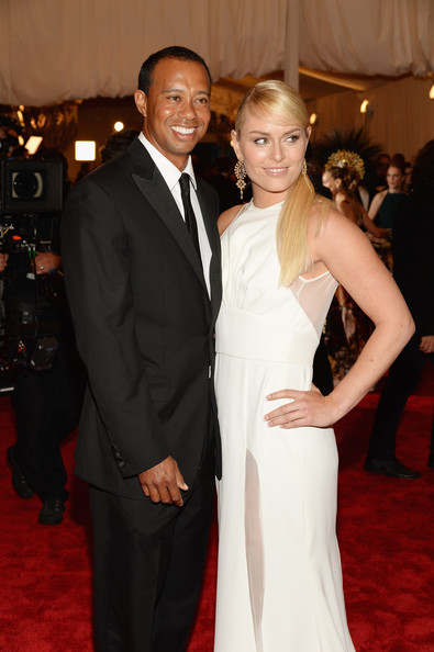 lindsey vonn-tiger woods-MET Ball 2013-punk chaos to couture-the jasmine brand