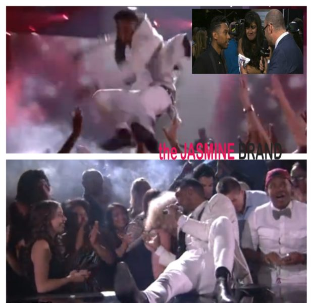 [VIDEO] Miguel Apologizes, After Accidentally Kicking Fan In the Head During Billboard Music Awards