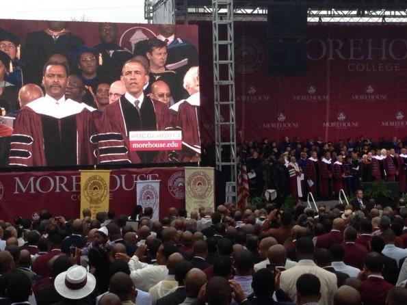 president obama-commencement speech-morehouse-the jasmine brand