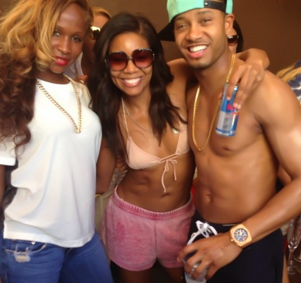 rick ross girlfriend-gabrielle union-terrence j-memorial day weekend 2013-the jasmine brand