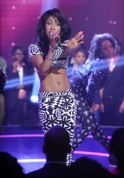 Sevyn Streeter at 106 & Park, May 24, 2013. (photo: John Ricard / BET)