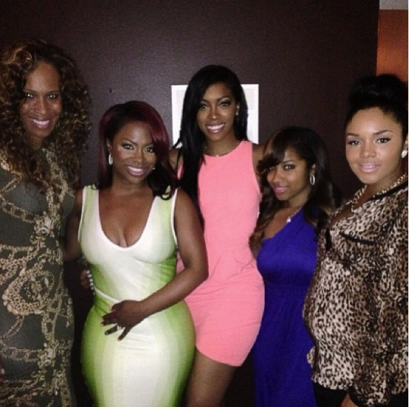 toya wright-rasheeda-porsha stewart-real housewives of atlanta-kandi burruss birthday dinner 2013-the jasmine brand