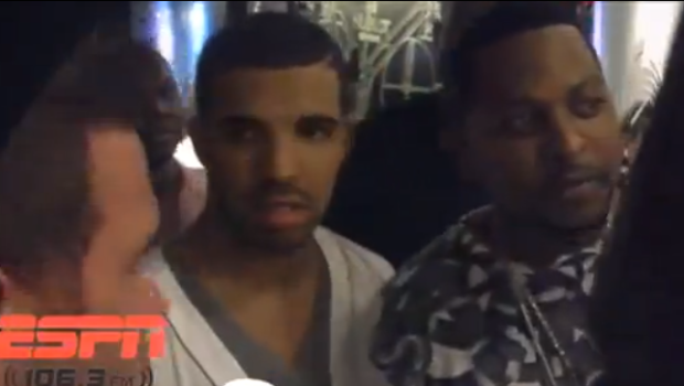 [VIDEO] Ouch! Drake Gets Denied Access to Miami Heat Locker Room After Game + Spike Lee, Warren Buffet Leave A Congratulatory Message for Lebron James