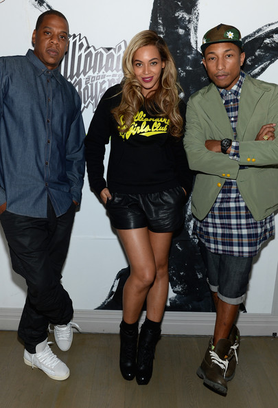 beyonce-jayz-pharrell-Billionaire Boys Club Celebrates 10 Years-the jasmine brand