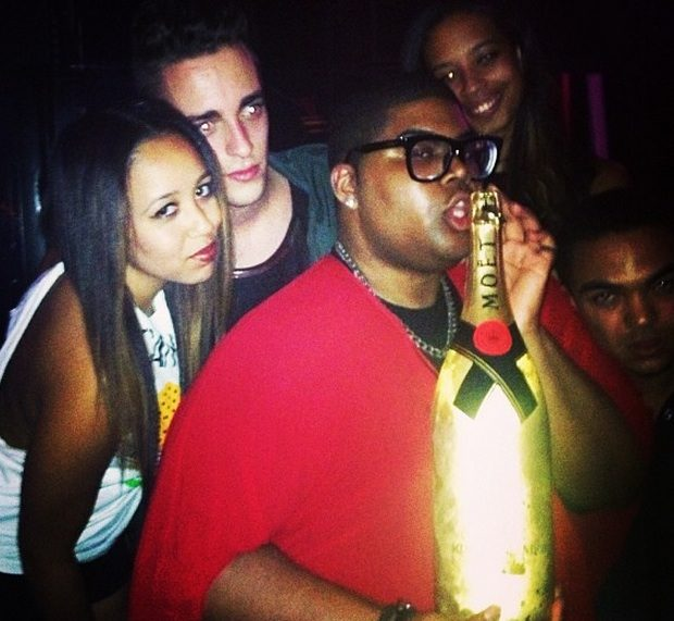 [Photos] Magic Johnson's Son EJ, Stunts For His Miami Birthday With Champagne & Designer Bags