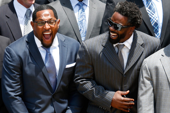ed reed-ray lewis laugh-president-barack obama-welcomes baltimore ravens-the jasmine brand