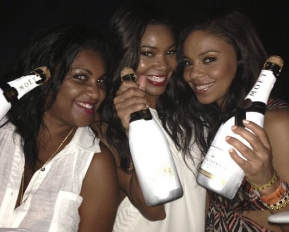 gabrielle union-sanaa lathan-miami championship 2013-afterparty-the jasmine brand