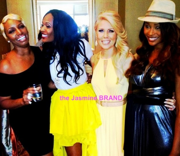 marlo hampton-gretchen-cynthia bailey-nene leakes-post wedding day brunch-i dream of nene 2013-the jasmine brand