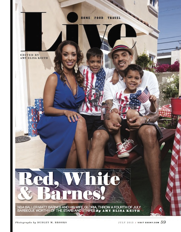 matt barnes-gloria govan-ebony magazine-the jasmine brand