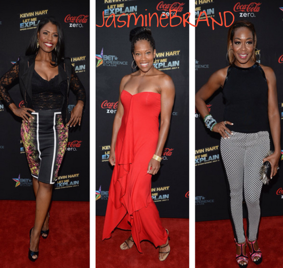 [Photos] Kevin Hart Brings 'Let Me Explain' To Hollywood Regina King, Omarosa & Tichina Arnold