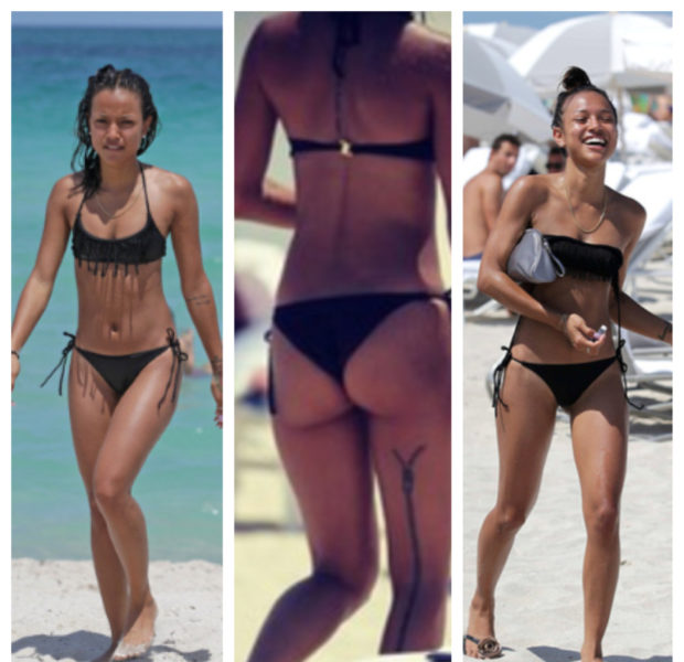 Karrueche Brings Toned Body & Zipper Tatt to South Beach, Serena's Booty Game is Still Insane + More Celeb Stalking