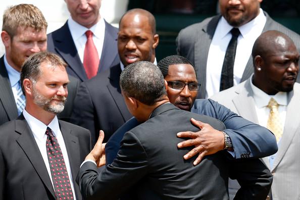 ray lewis-president-barack obama-welcomes baltimore ravens-the jasmine brand