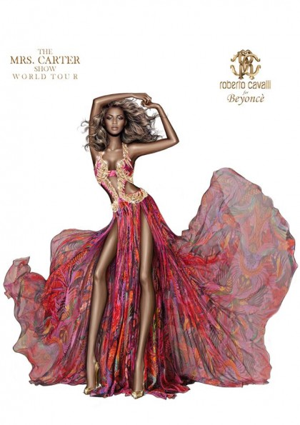 roberto cavalli-defends beyonce dress-the jasmine brand