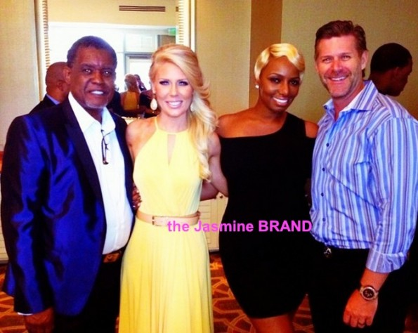 slade-gretchen-greg-nene leakes-post wedding day brunch-i dream of nene 2013-the jasmine brand