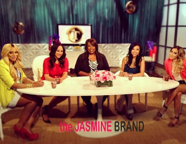 the real talk show-tamar braxton-lonnie love-adrienne bailon-the jasmine brand