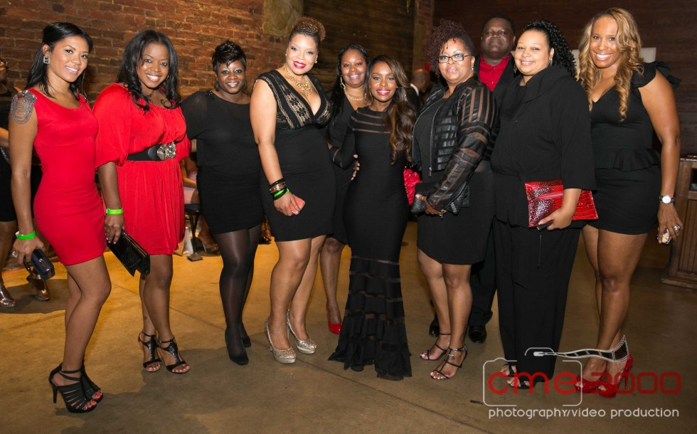 BRANDI-DORA DIN-QUAD-GERALD-RONDA WILKINS-CHANITA FOSTER-DEION SANDERS Prime Time Black and Red GALA-the jasmine brand