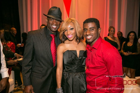DEION SANDERS-DONDRIA-DEION Son-red and black gala-the jasmine brand