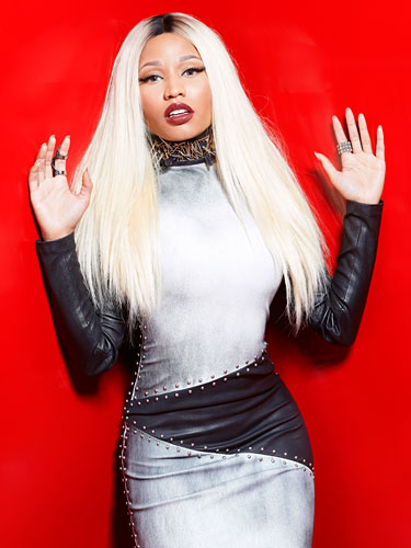 Nicki-Minaj-Gray-Dress-Marie-Claire-2013-The-Jasmine-Brand