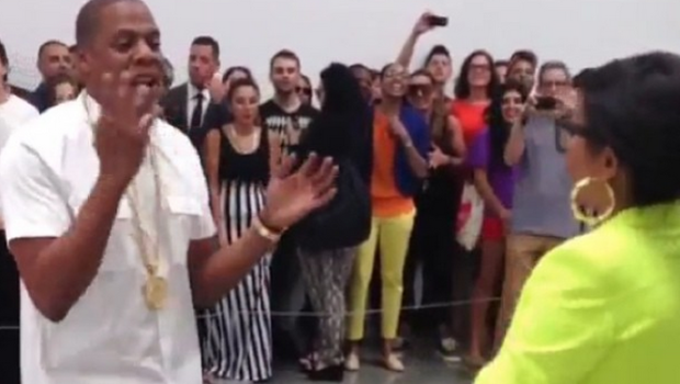 [WATCH] Jay-Z Continues Unorthodox Marketing, Perform 6 Hours Straight In Art Gallery, Snags Taraji P. Henson