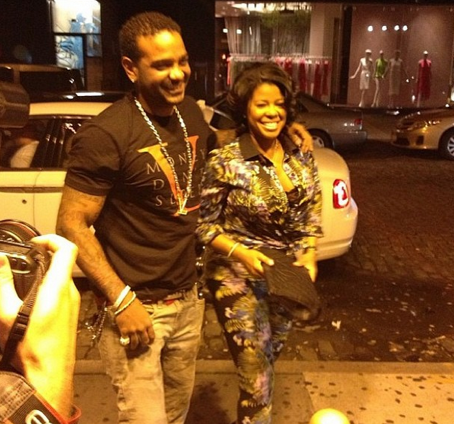 Photos] Chrissy Lampkin And Jim Jones Get Renewed, Caught Filming