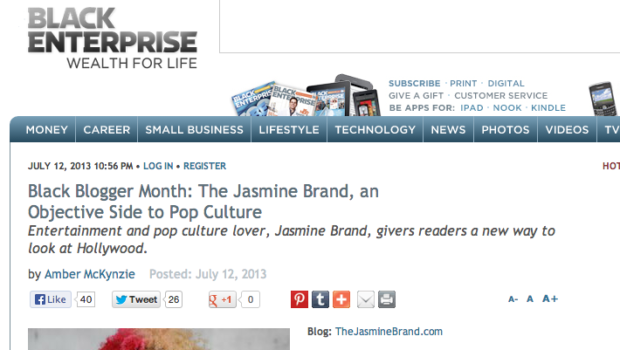 Black Enterprise Interviews Jasmine BRAND, 'An Objective Side of Pop Culture'