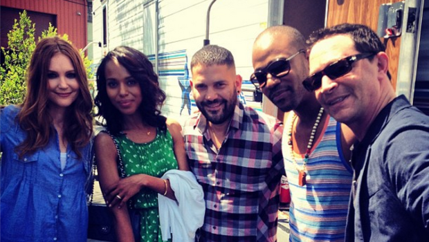 [Photos] 'Scandal' Cast Caught Filming Season 3! + Tamar Braxton Says She Learned How To Fight After Being Jumped In School