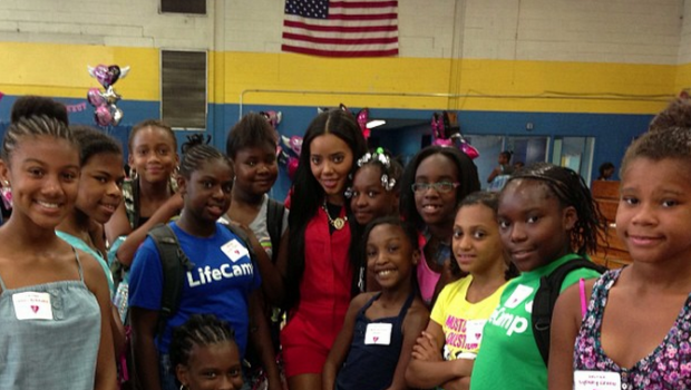 [Photos] No Boys Allowed! Angela Simmons Throws 'Girl Talk Take Over' Event at Newark's Boys Girls Club