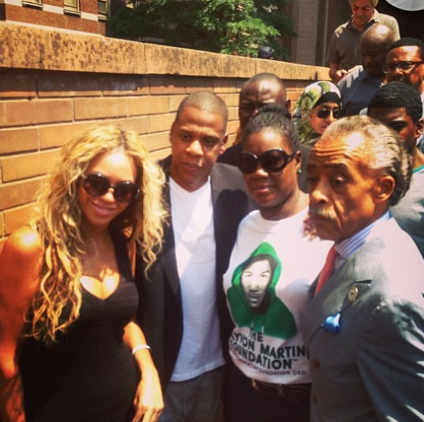 beyonce-jayz-attend travyvon martins rally-the jasmine brand