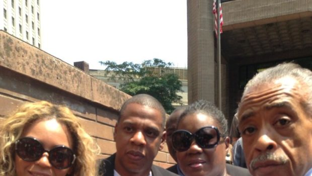 [Photos] Beyonce & Jay-Z Attend Travyvon Martin's Rally in NYC