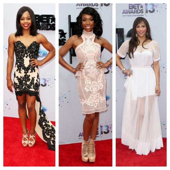 gabby douglas-brandy-paula patton-bet awards 2013-the jasmine brand