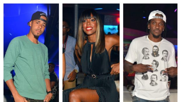 Kelly Rowland Serves Leg, Bangs & A Red Lip + J.Cole, Pusha T Take Over ATL's 'Prive'