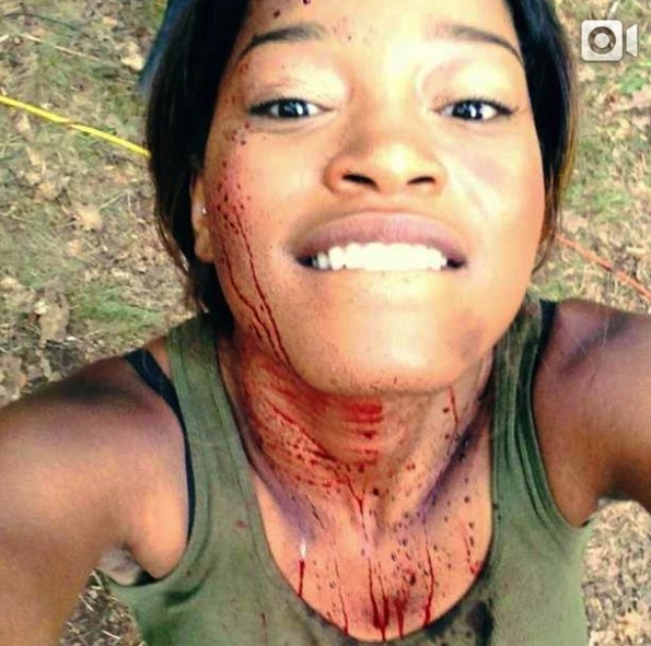 keke palmer-filming new horor film-the jasmine brand
