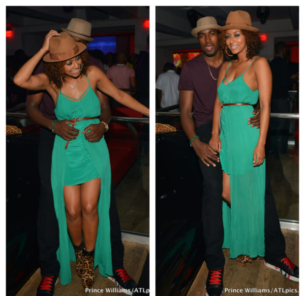 [Photos] Is Keri Hilson A Future Basketball Wife? + NBA Baller Boyfriend Serge & Singer Cup Cakin' in ATL Club
