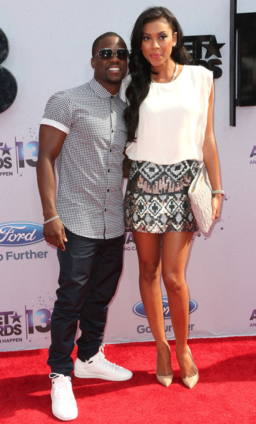 kevin hart-eniko girlfriend-bet awards red carpet 2013-the jasmine brand