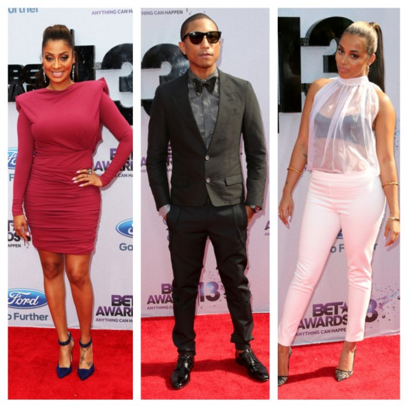 lala anthony-pharrell williams-lauren london-bet awards 2013-the jasmine brand
