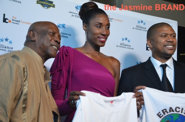 lois gossett jr-lisa leslie-espys education event-the jasmine brand